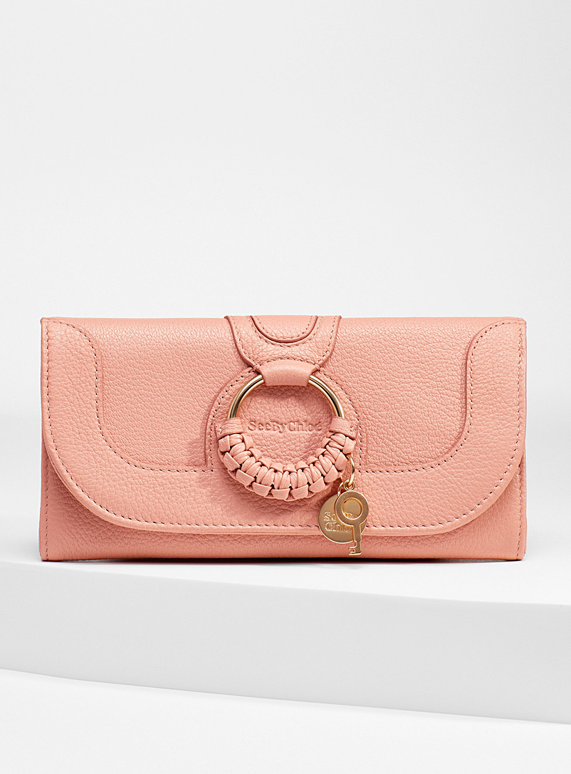 See by Chloé Dusky Pink Hana chain wallet for women