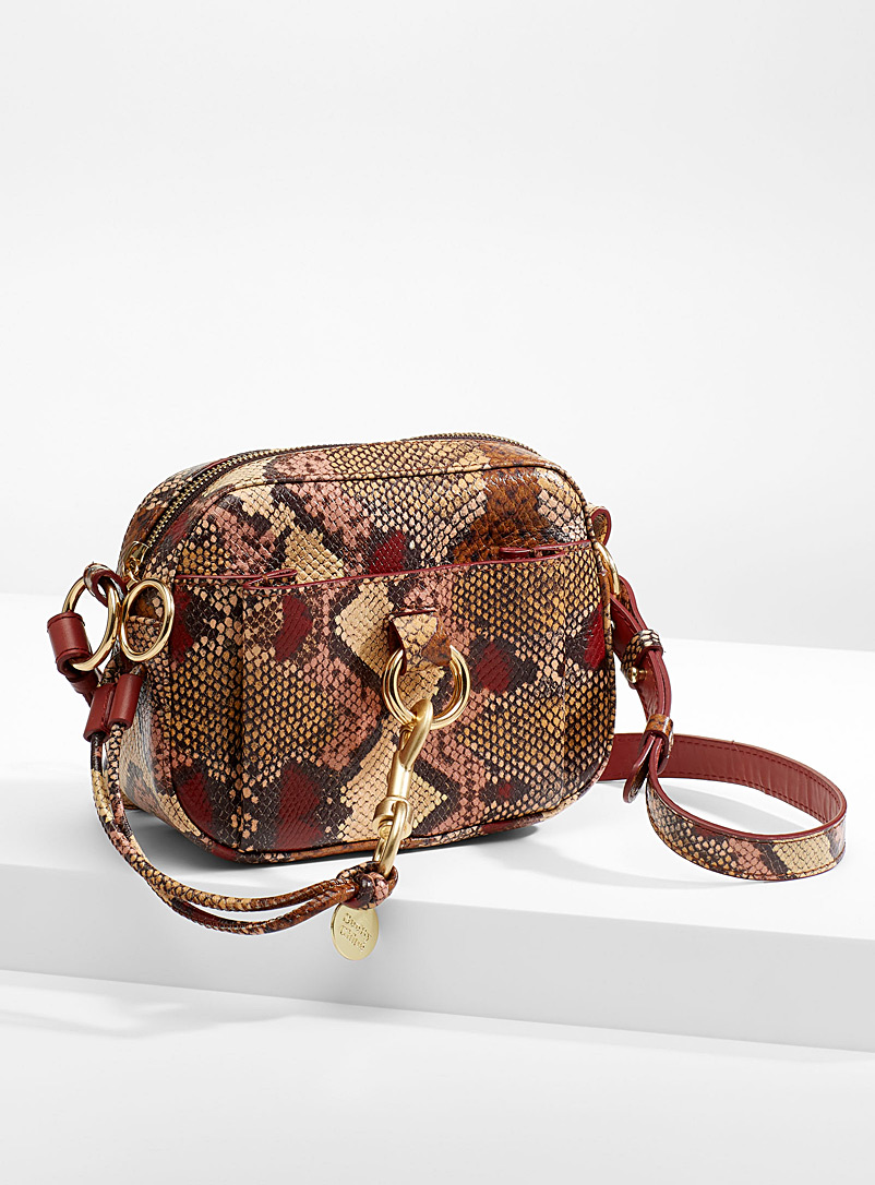 Snakeskin print shoulder bag - See by Chloé - Dusky Pink