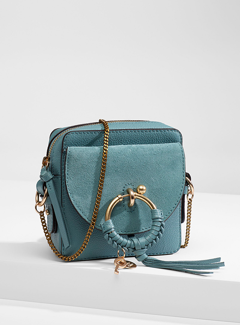 See by Chloé Teal Braided ring shoulder bag for women