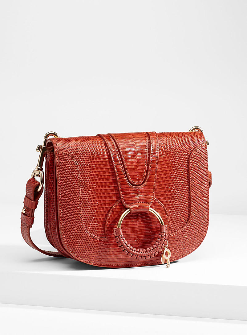 See by Chloé Light Red Hana scale shoulder bag for women