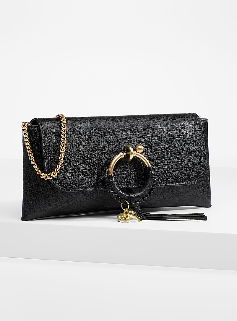 See by Chloé Black Signature ring barrel bag for women