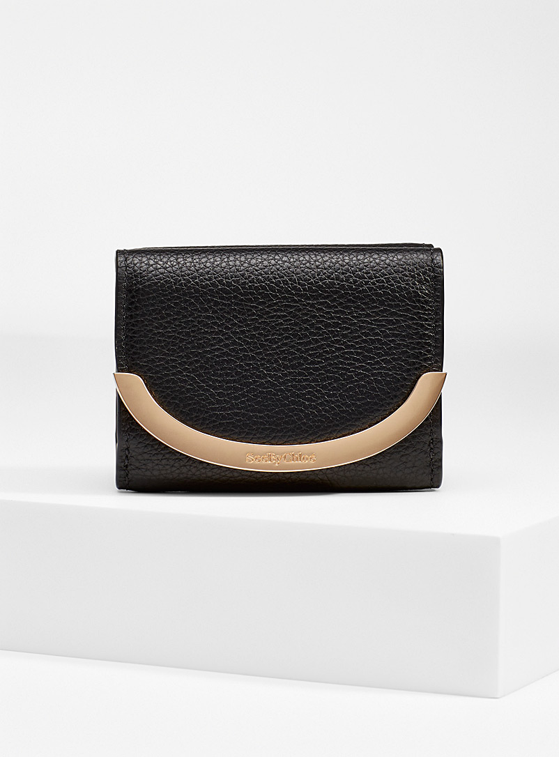 See by Chloé Black Lizzie wallet for women