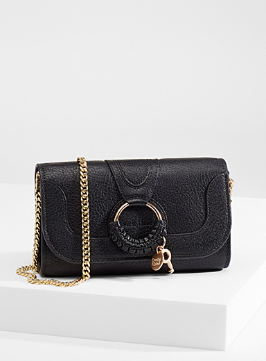 See by Chloé Black Hana chain wallet for women