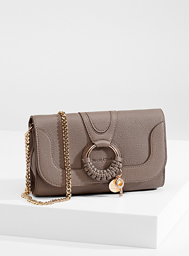 See by Chloé Grey Hana chain wallet for women