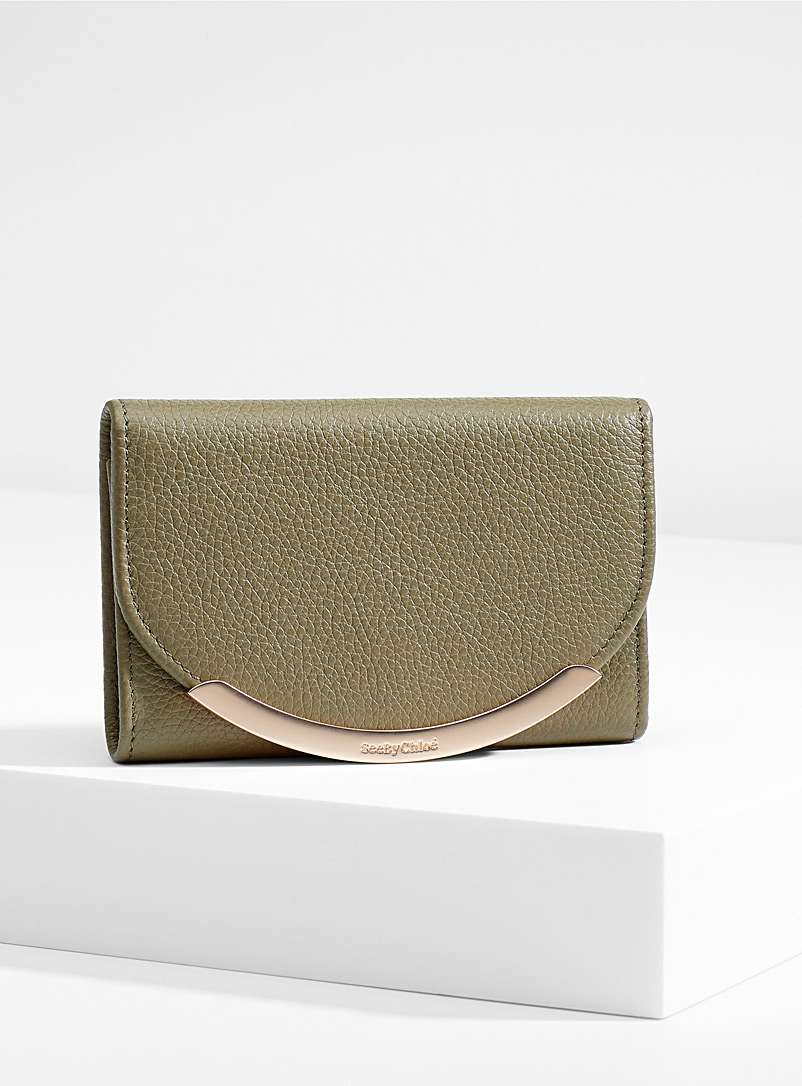 See by Chloé Mossy Green Lizzie wallet for women