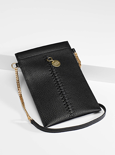 See by Chloé Black Tilda laced phone clutch for women