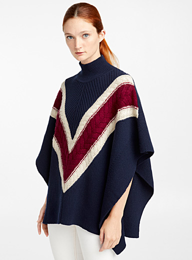 Twisted knit cape