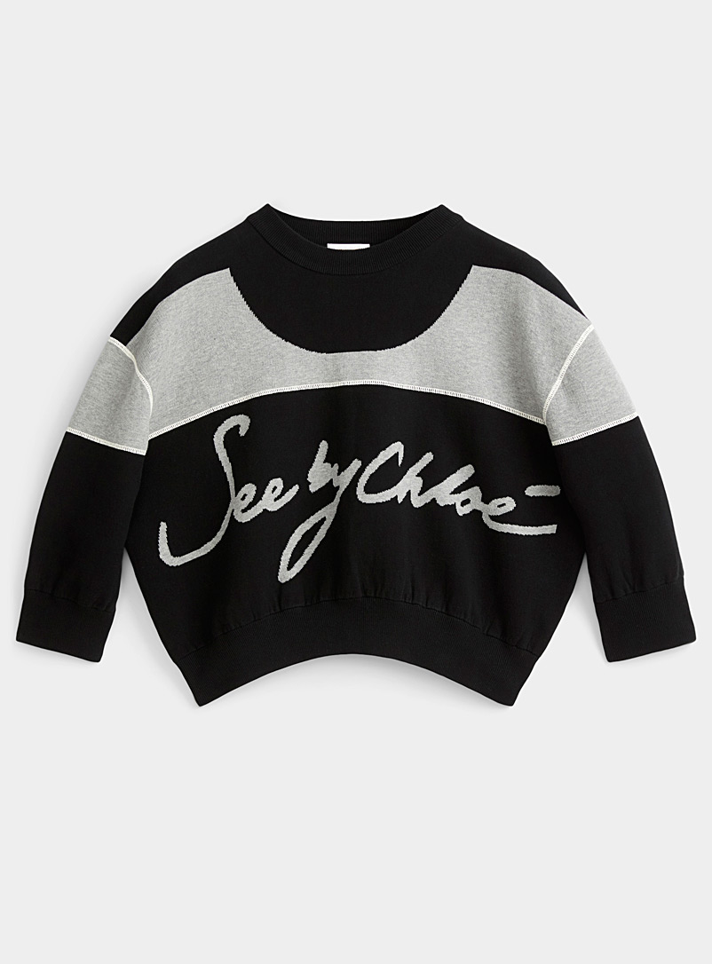 See by Chloé Charcoal Retro signature sweater for women