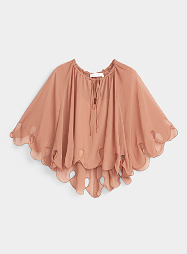 See by Chloé Peach Sheer blouse for women