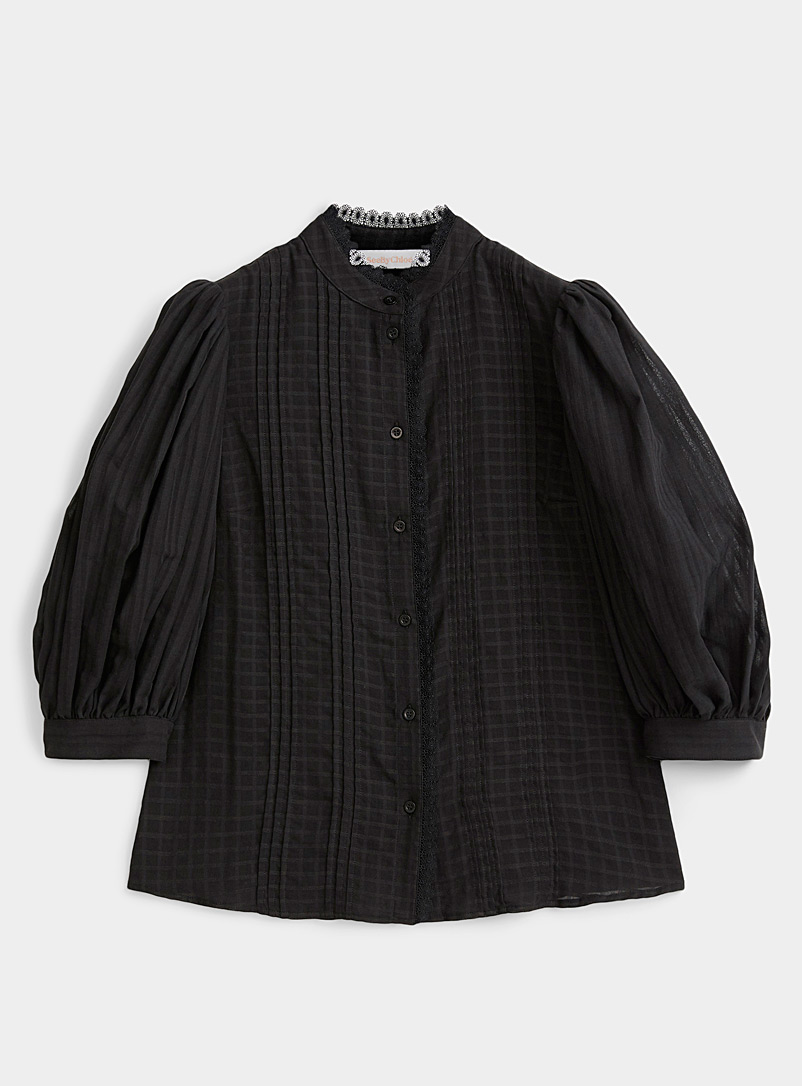 See by Chloé Black Balloon-sleeve blouse for women