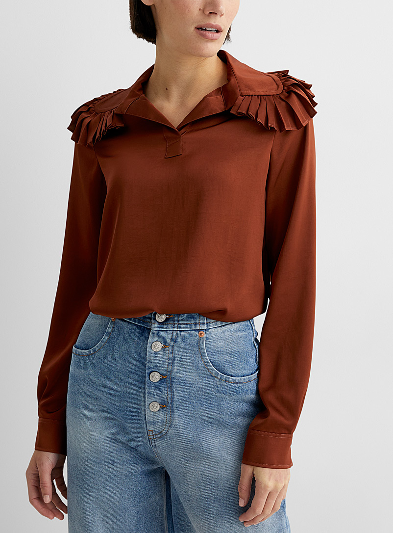 See by Chloé Copper Ruffled blouse for women