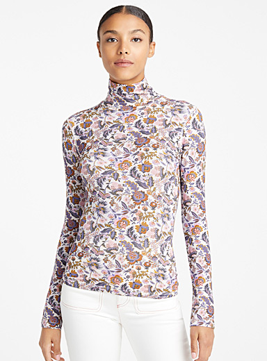 Le top imprimé Winter Floral