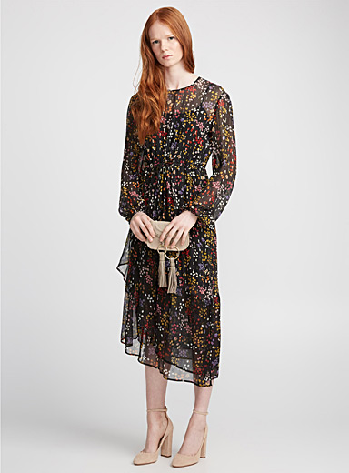 Night blossoms long dress
