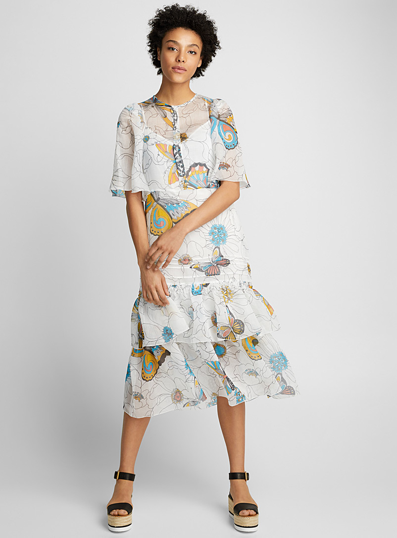 Cap-sleeve dress - See by Chloé - White