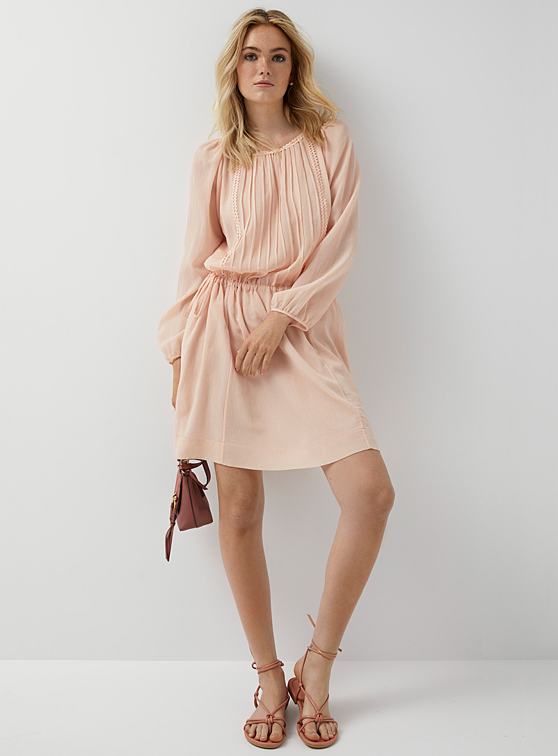 See by Chloé Pink Romantic crepe dress for women