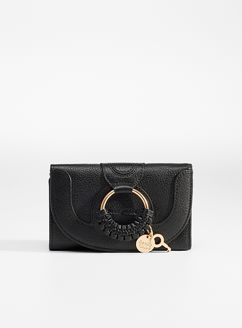 See by Chloé Black Small Hana wallet for women