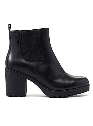 Vagabond Shoemakers Black Grace heeled Chelsea boots for women