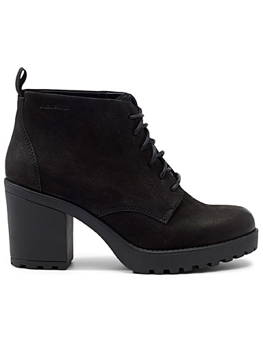 Grace lace-up heeled boots