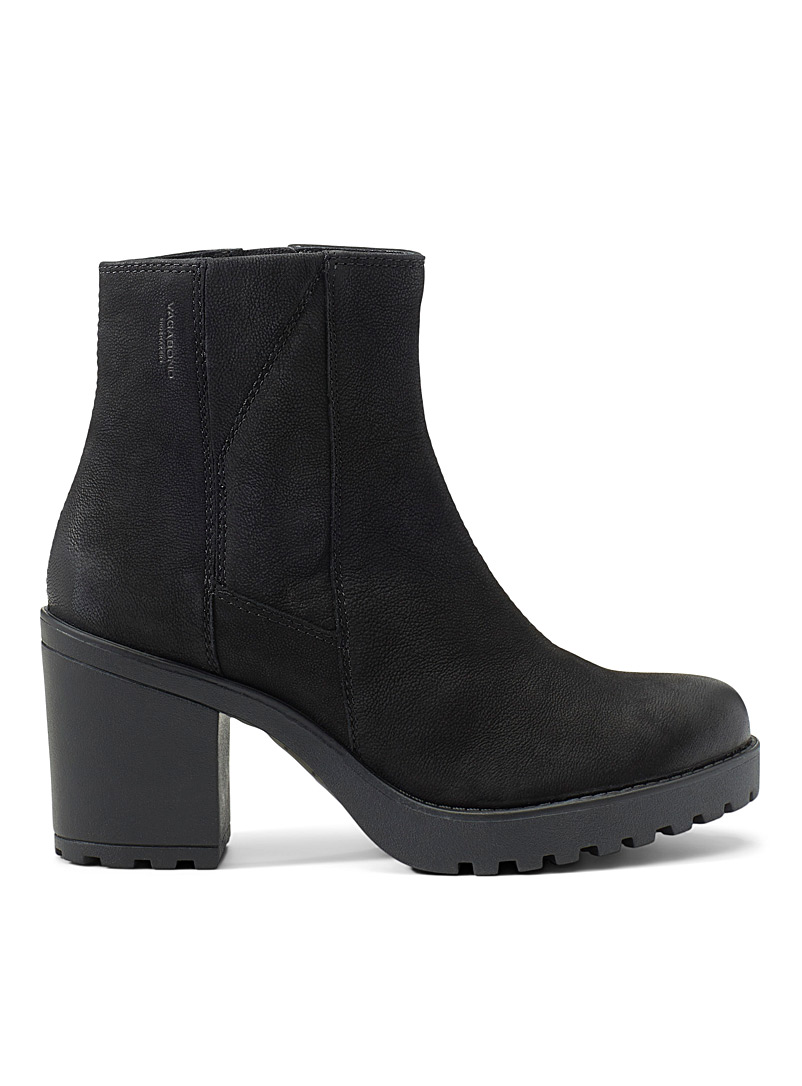 La botte à talon Grace nubuck