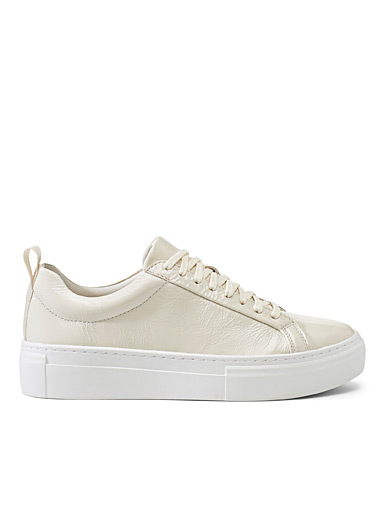 Vagabond Shoemakers Ivory White Zoe ivory platform sneakers for women