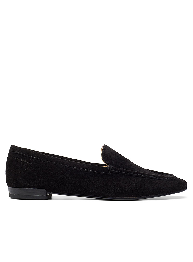 Vagabond Shoemakers Black Suede Cleo loafers for women