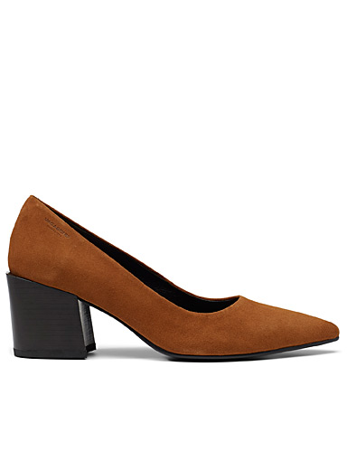 Adrianna brown suede pumps