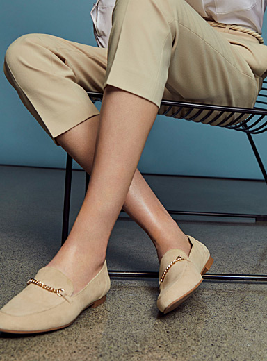 Vagabond Shoemakers Cream Beige Eliza loafers for women