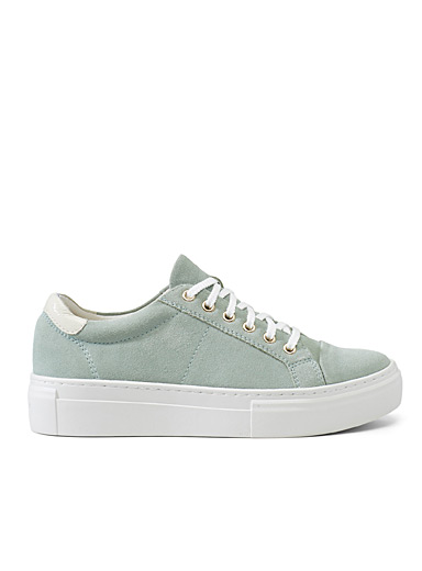 Vagabond Shoemakers Lime Green Zoe celadon green platform sneakers for women