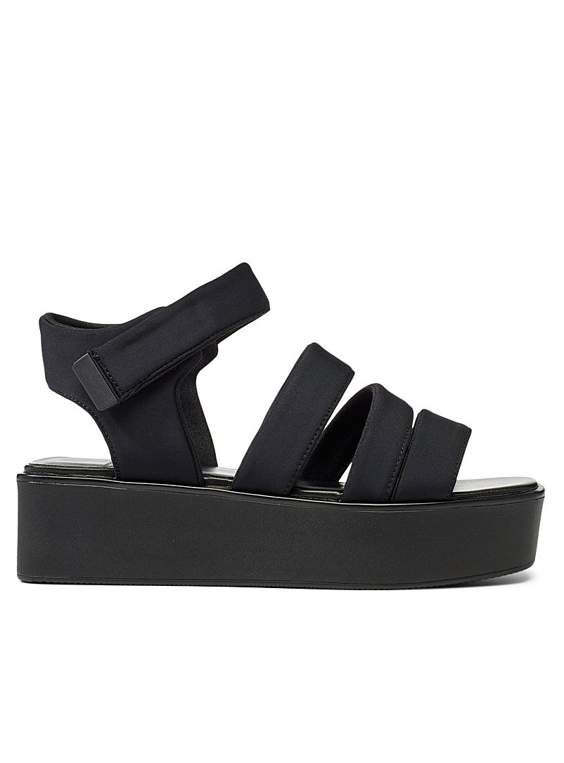 Vagabond Shoemakers Black Bonnie platform sandals for women