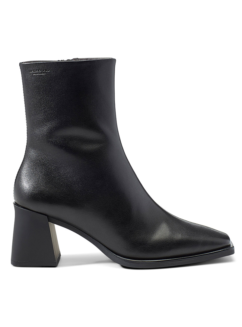 Vagabond Shoemakers Black Hedda block-heel boots for women