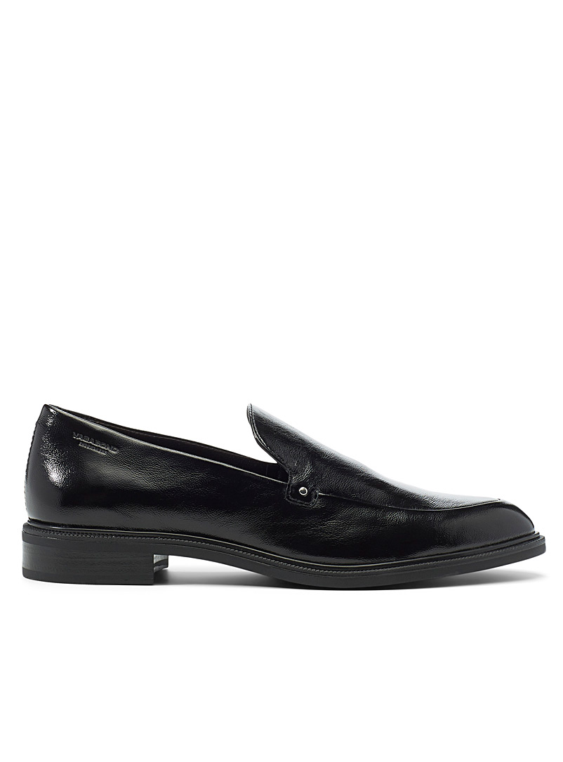 Vagabond Shoemakers Black Frances shiny leather loafers for women