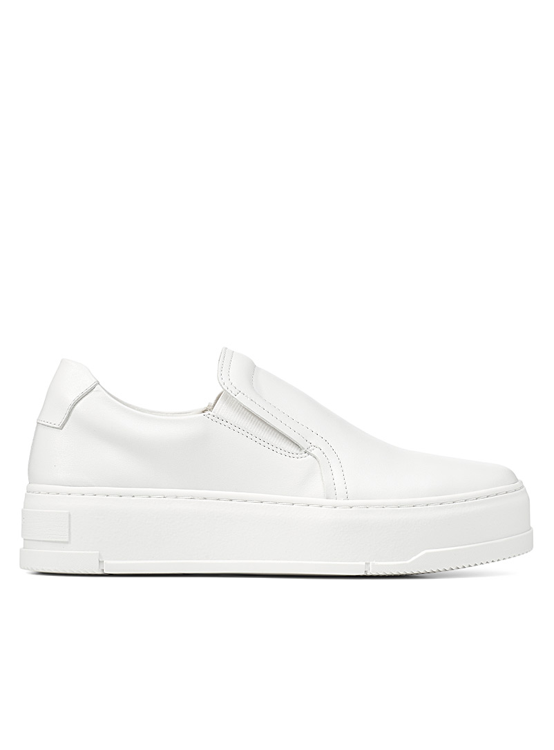 Vagabond Shoemakers: Le slip-on cuir Judy Blanc pour femme