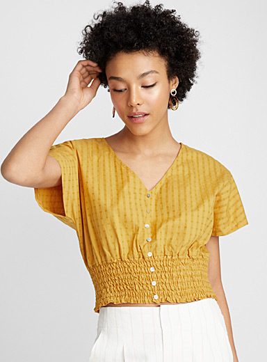 Golden yellow blouse