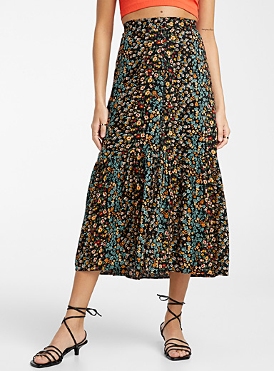 Wildflower buttoned skirt