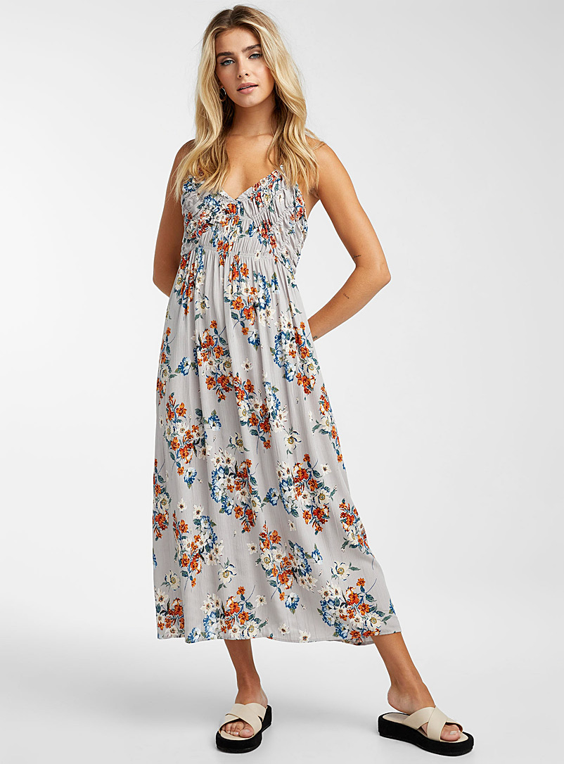 Icône Red Summer day maxi dress for women