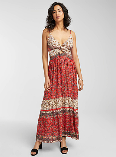 Boho-dreaming tied maxi dress