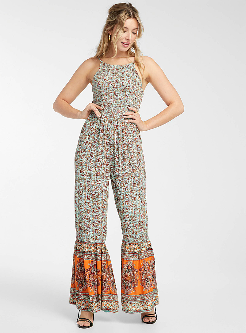 Icône Assorted Multi-colour lotus jumpsuit for women