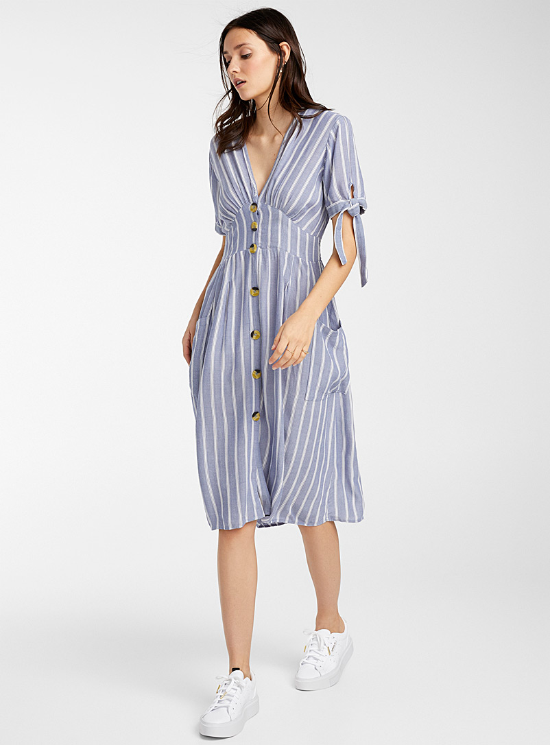 chambray-striped-dress