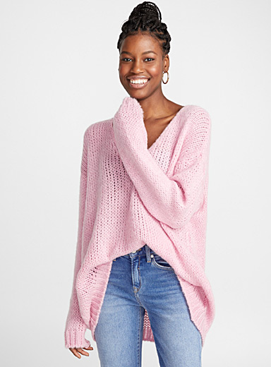 Mohair and wool V-neck sweater