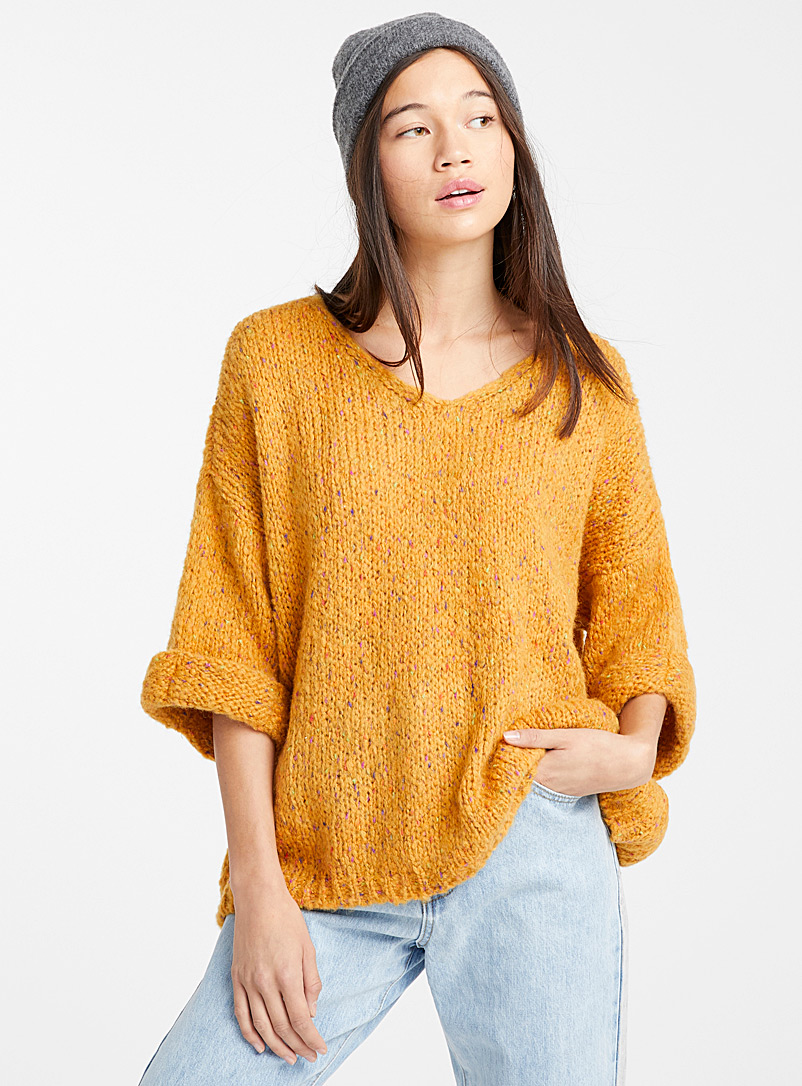 swiss-dot-cuffed-sleeve-sweater