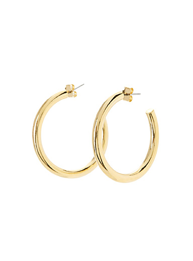 Metallic tube hoops