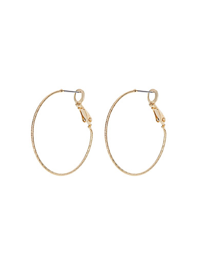 Small fine shimmery hoops