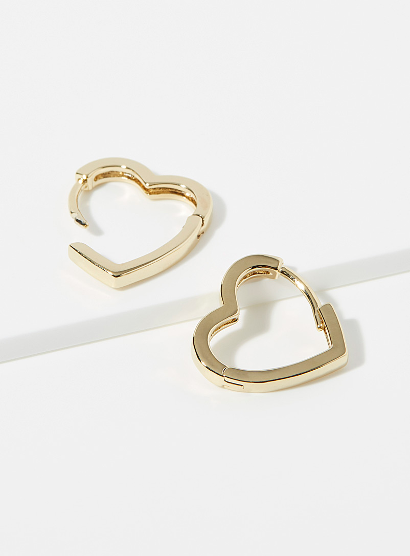 Simons Gold Golden hearts hoops for women