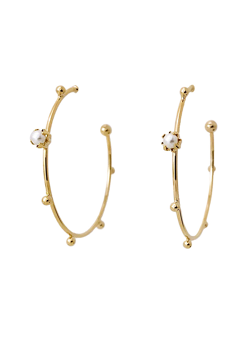 Simons Assorted Pearly hoops for women