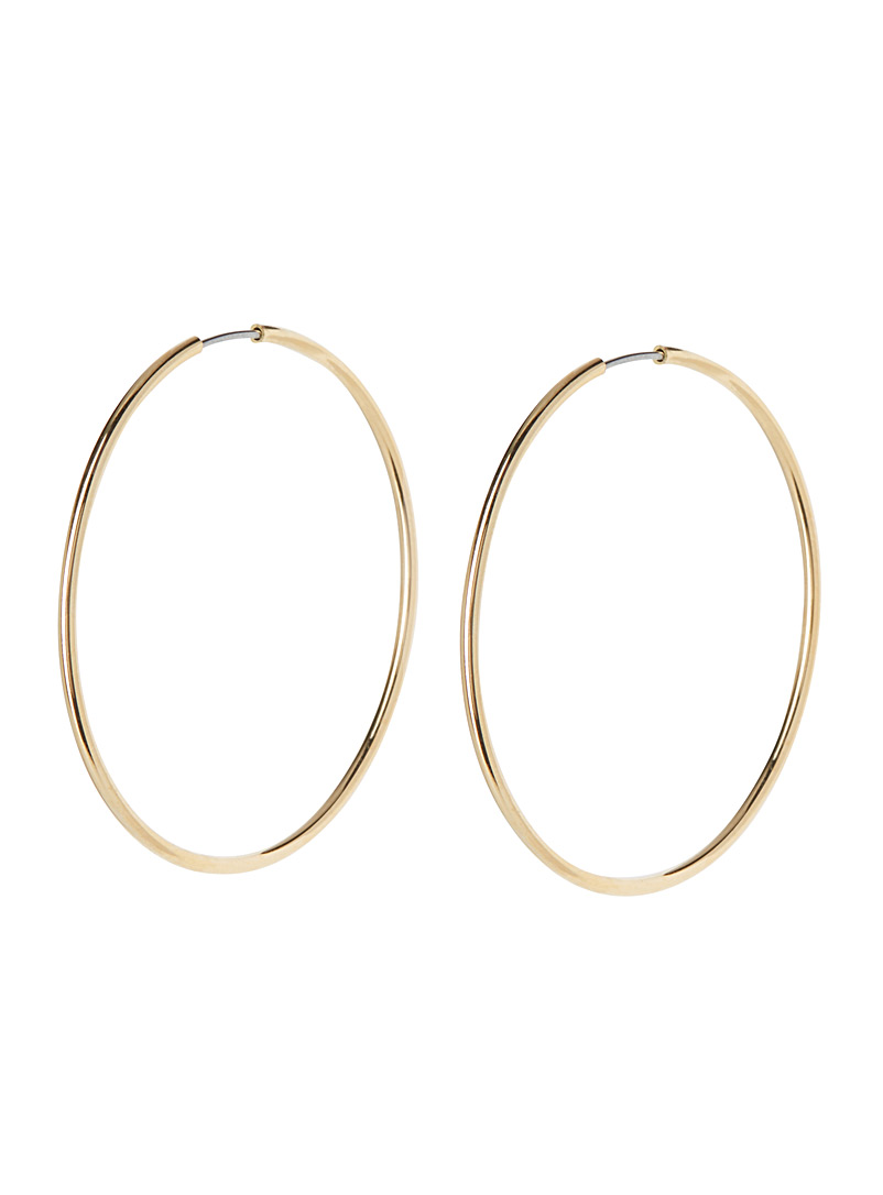 Metallic hoop earrings - Earrings - Assorted