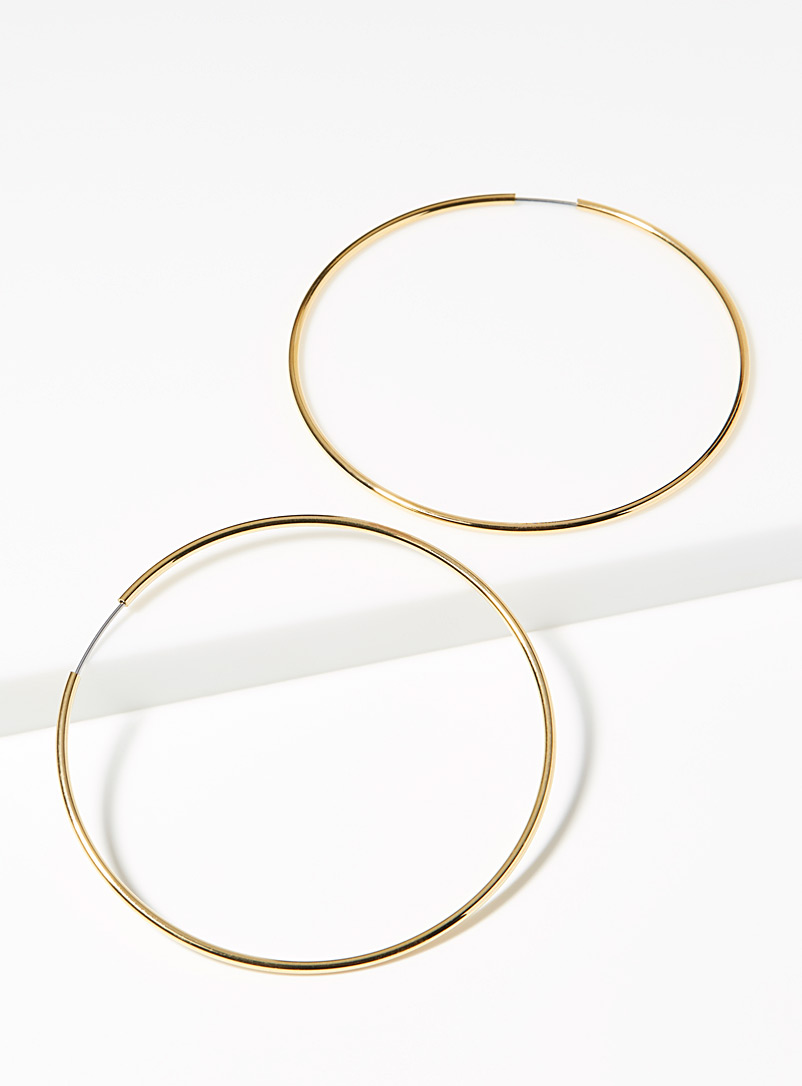 Simons Silver Essential hoops for women