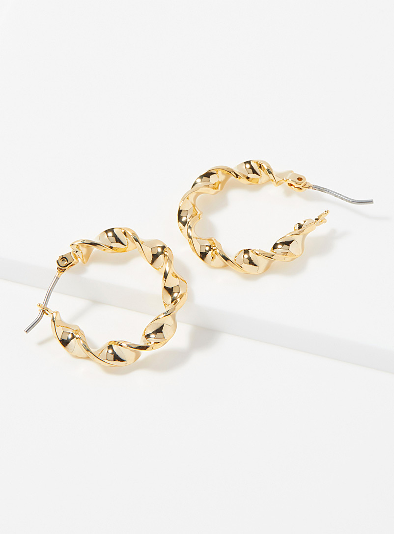 Simons Assorted Small twisted hoops for women