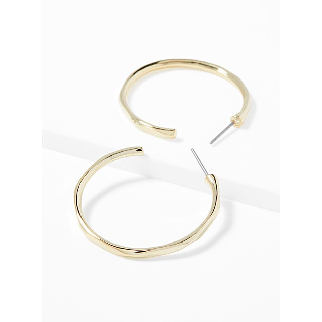gold-hammered-hoops