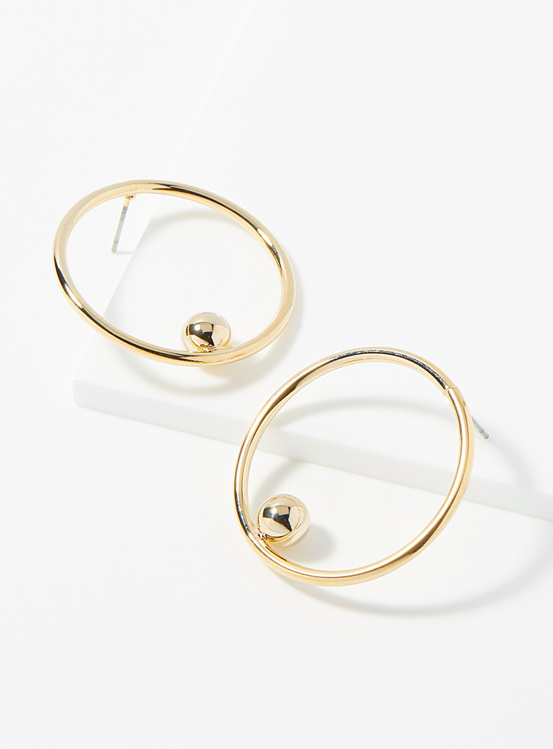 Simons Assorted Minimalist bead hoops for women