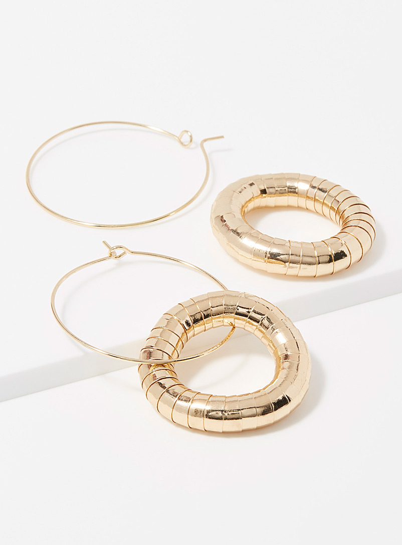 Articulated pieces hoops - Earrings